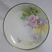 Nippon Cake Platter Hand Painted