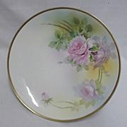 Nippon Cake Platter Hand Painted