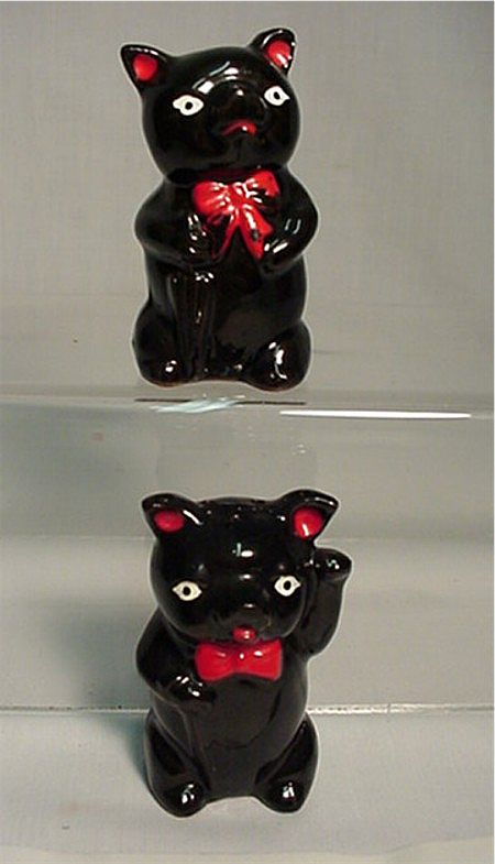 Salt and Pepper Shakers Red Clay Pigs