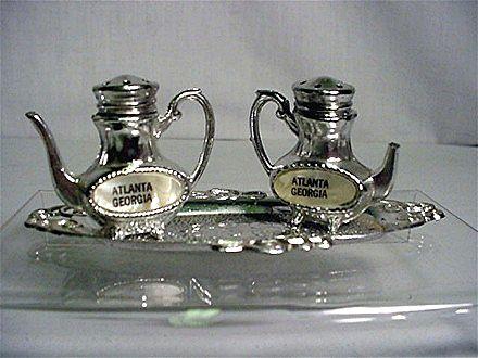 Salt and Pepper Set Souvenir Atlanta Georgia Coffee Pot Shakers