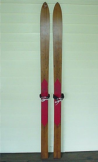SOLD    See others available to purchase    Skis Pair of Lund Childs Wood Skis