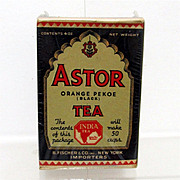Astor Tea Box Advertising Tin Mint Unopened Condition