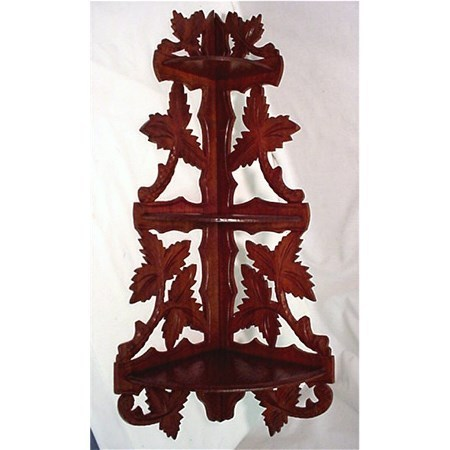 Corner Shelf American Victorian Walnut Wall Hanging