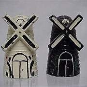 Metal Salt and Pepper Set Iron Windmill Shakers