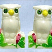 Salt and Pepper Set Owl Shakers