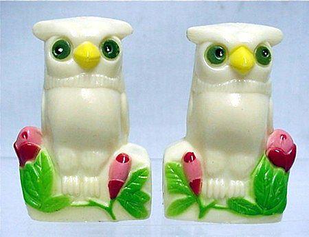 Salt and Pepper Set Owl Shakers
