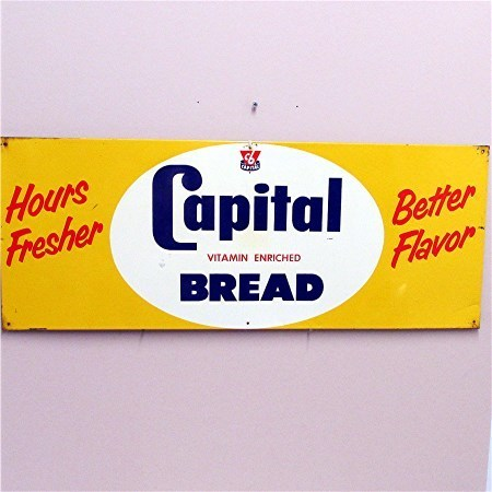 Original Metal Advertising Sign For Capitol Bread