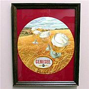 Genesee Beer Advertising Sign Framed