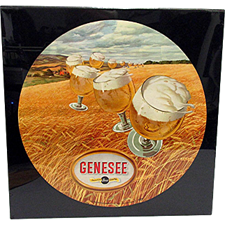 Genesee Beer Lithographed  Advertising Sign