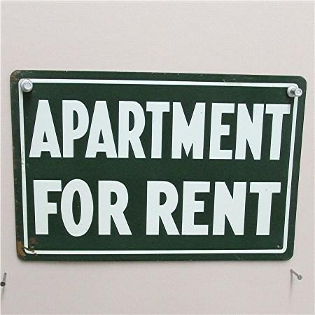 Tin Sign Apartment for Rent