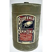 Bargain Buffalo Ammonia Advertising Tin