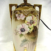 Lamp Original Nippon Porcelain Hand Painted Table Light