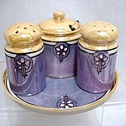 Condiment Set Lusterware Porcelain   ***Selling at Cost