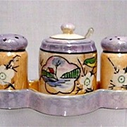 Lusterware $49 Porcelain Condiment Set