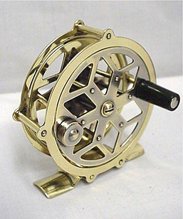 SOLD   See others available Raised Pillar Brass Fly Reel  50% OFF