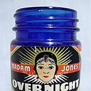 Sold Madam Jones Overnight Cream Cobalt Jar