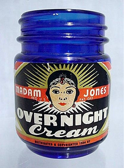 Madam Jones Overnight Cream Cobalt Jar