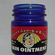 Sold Cobalt Bottle Skin Ointment Sweet Georgia Brown