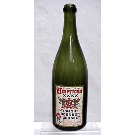 Liquor Bottle American Bourbon Whiskey Emerald Green Bottle