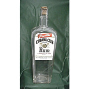 Rum Liquor Bottle Cubana Club Brand