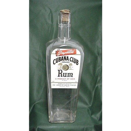 Rum Bottle Cubana Club Brand