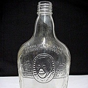 Whiskey Bottle Harry Wilken Embossed