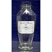 Olive Oil Clear Glass Bottle