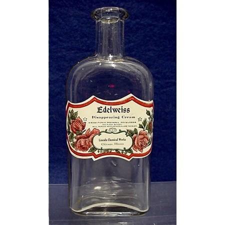 Drugstore or Pharmacy Bottle for Edelweiss Cream