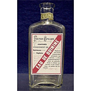 Eau de Quinine Drugstore or Pharmacy Bottle