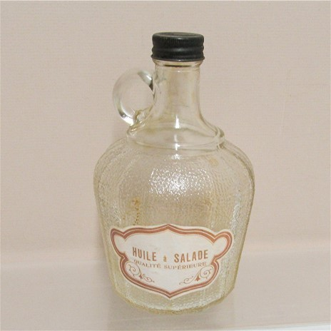 Salad Dressing Glass Jug