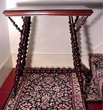 Mahogany Parlor Table by Merklen Brothers