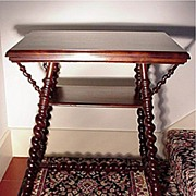 Victorian Mahogany Parlor Table Merklen Brothers of NYC
