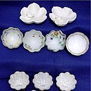 Porcelain Ring or Trinket Dishes Assortment of 11