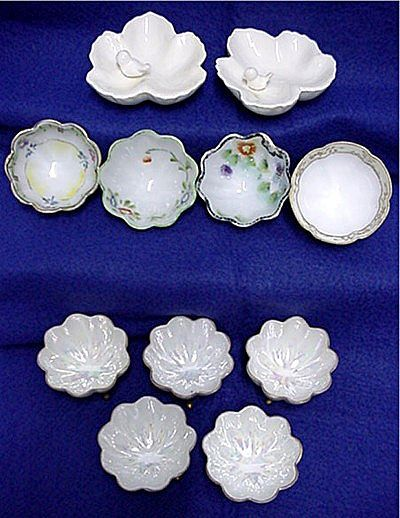 Porcelain Ring or Trinket Dishes Assortment of 11
