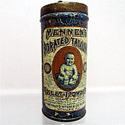 Advertising Tin for Mennens Toilet Powder for Infants and Adults Circa 1898 50% OFF