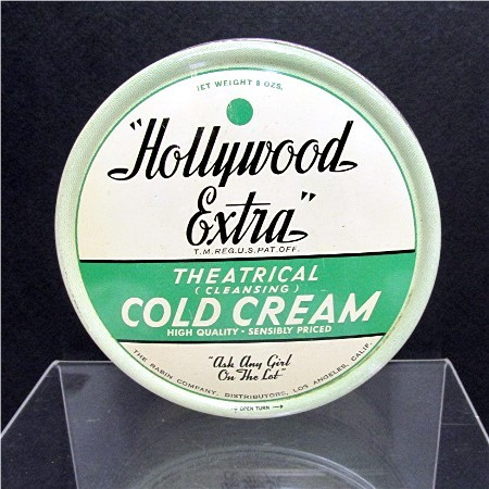 Theatrical Cold Cream Hollywood Extra Advertising Tin