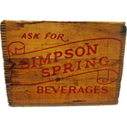 Simpson Springs Beverages Wood Advertising