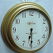 Telechron Wall Clock 18 Inch Diameter Keeps Time