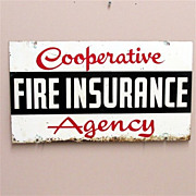 Insurance Advertising Sign Double Sided