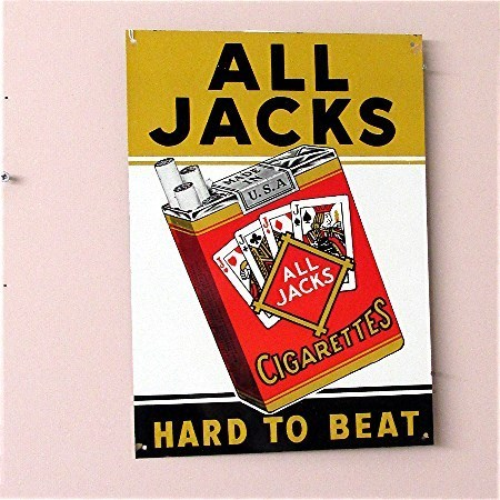 All Jacks Cigarettes Tin Advertising Sign