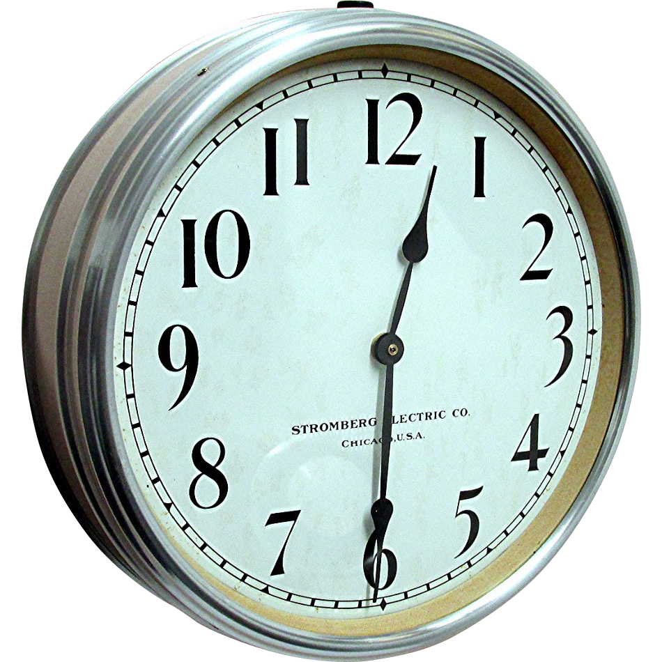 SOLD Large Round Stromberg Wall Clock