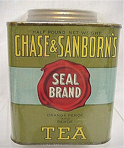 Chase & Sanborns Tea  Seal Brand Advertising Tin MINT 50% OFF