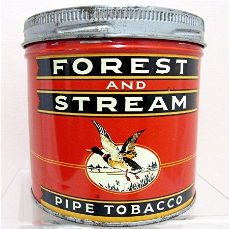 Forest and Stream Pipe Tobacco Advertising tin