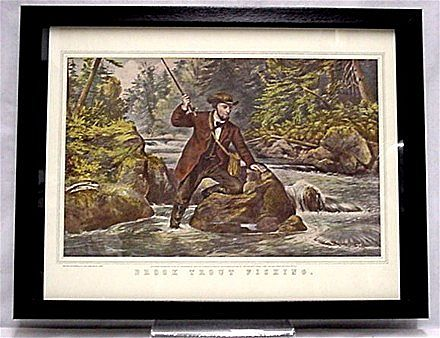 Brook Trout Fishing Print Currier & Ives Print 50% Off