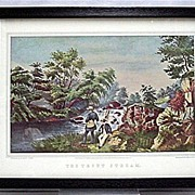 Currier & Ives the Trout Stream Print 50% Off