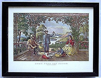Home from the Brook Currier & Ives Print 50% Off