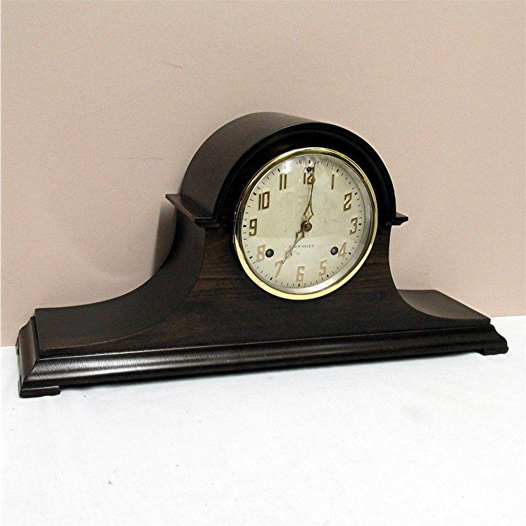 Antique New Haven Mantle Clock Completely Restored 100% Original
