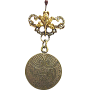 Locket Lapel Pin Circa 1910