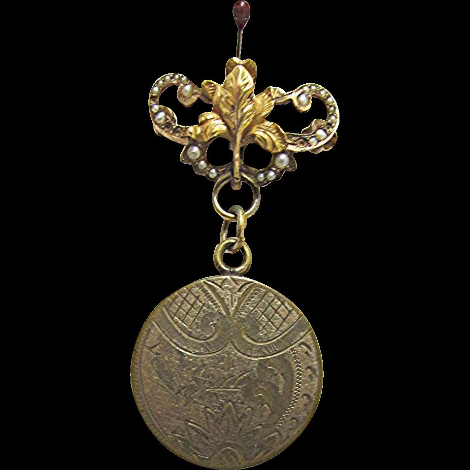 Locket Lapel Pin Circa 1910