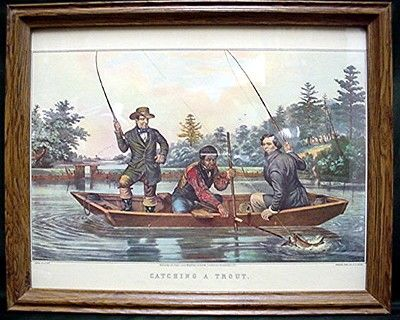 Fly Fishing Print Framed